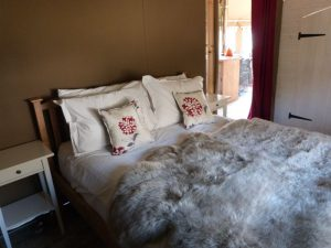 Snuggle down under the warmth of the sheepskin