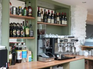 Wide selection of drinks and food