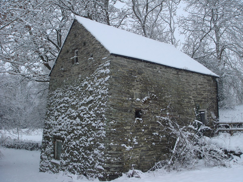 Felin Geri Mill in the snow