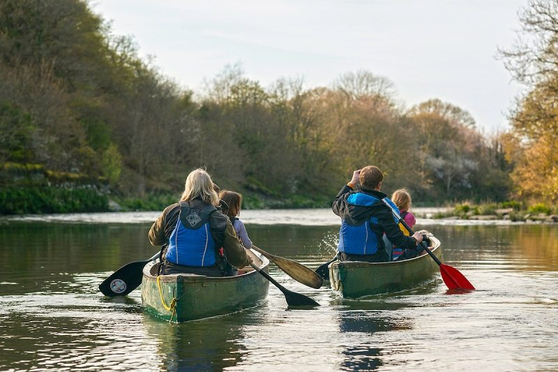Canoeing on the River Teifi  Mid Water Sports Activities and Sports